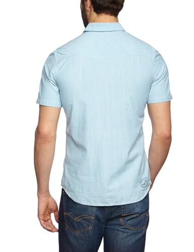 Vans Woven Edgeware Chemise à manches courtes pour homme Light Blue
