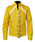 Fashion_First - Chaqueta - para Hombre Amarillo Freddie Mercury Jacket XX-Small