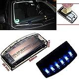 Rudi-TI Alarmanlage Dummy 6 Blau Blinkende LED Diebstahlsicherung für Auto mit eingebautem Vibrationssensor
