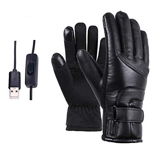 Guanti da moto, guanti da moto elettrici alimentati tramite usb touch screen temperatura regolabile inverno manubrio manubrio copertura protettiva guanti caldi antivento e impermeabili