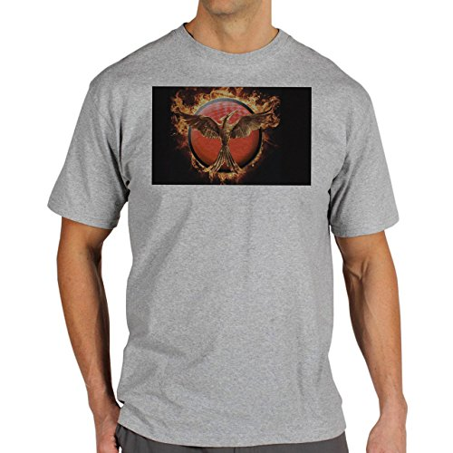 Mockingjay-Fire--Background.jpg Herren T-Shirt Grau