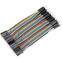Plat Firm 40pcs 10cm macho a cable de puente dupont hembra para Arduino
