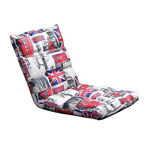 Willsego divano da gioco pieghevole lettino da gioco divano lazy lounge meditazione schienale rosso forma di riso (colore : -, dimensione : -)