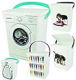 Waschpulverbox Wäscheklammerbox Tierfutter Box 5 Liter Neu (Hund)