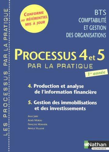 Processus 4 et 5 par la pratique BTS CGO 1e année...