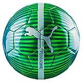 Puma One Chrome Ball Fußball, Grün (Green Gecko/Deep Lagoon/Puma White), 5