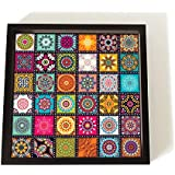 Printelligent Khirki Wooden Serving Trays in Block Style for Dinning Table, Home & Office Multipurpose Use
