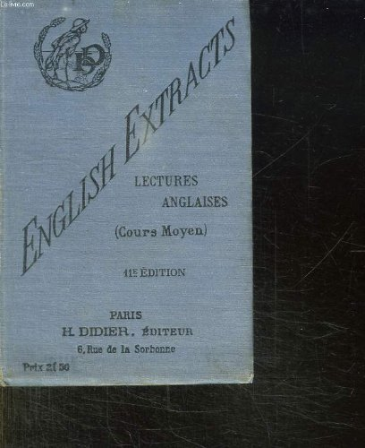 ENGLISH EXTRACTS. LECTURES ANGLAISES. CL...