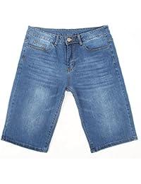 iLoveSIA® Homme Jeans Denim Shorts Jean court Jean Coupe Droit
