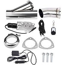 Honhill Acero Inoxidable silenciador de Escape eléctrico Kit de Sistema de Interruptor de válvula (3.0