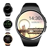 Evershop Bluetooth Smart Watch 1.3 inches IPS Round Touch Screen Smartwatch Phone with SIM Card and TF Card Slot with Sleep Monitor, Heart Rate Monitor and Pedometer for IOS and Android
