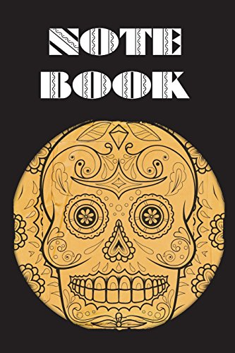 Notebook: Sugar Skull - Day of The Dead - Composition Book .  Cornell Notes  - Round Sepia Sugar Skull