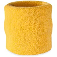 Suddora - Muñequeras, algodón, 1 unidad, mujer hombre, amarillo
