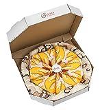PIZZA SOCKS BOX - Hawaiana - 4 paia di CALZINI Divertenti di COTONE, Originali e Unici - REGALO perfetto - Gadget Colorato| per Donna e Uomo, EU 36-40, Prodotto in Europa