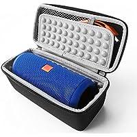 Flycoo Rigide Housse pour JBL Flip 4 3 2 1 Logitech x300 Bluetooth Speaker Enceinte Portable Etui Sac Zipper Case Protection Antichoc EVA (Gris)