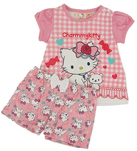 3e82be10708a Hello Kitty - Ensemble T-shirt et Short Bébé Charmy Kitty Couleur - Rose,