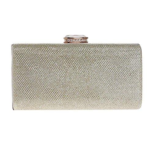 Damen Handtasche Abschlussball Abendtasche Pailletten Hochzeit Party Handtaschen Geldbörse. 18 X 9 X 5 Cm gold