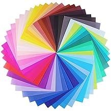 Carta per origami, Opret 100 fogli 20 x 20 cm 50 colori vividi lato singolo origami di carta per creazioni fai da te