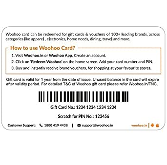 Woohoo Gift Card -Rs.500: Amazon.in: Gift Cards