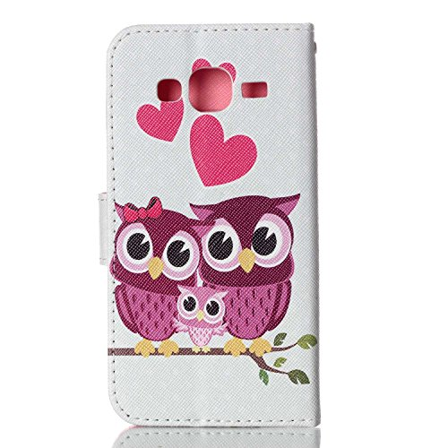 Meet de pour Apple iphone 5C Ultra Slim Flexible Transparent Soft Case / Housse / Portefeuille / Cover Étui / Housse étui - arbre blanc famille Owl