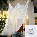 willkey Halloween Fantôme Suspendu Effrayant Horreur Fournitures Décoration Rideau Hanté Terreur Prop Squelette Volant pour Maison Jardin Partie Halloween (Blanc)