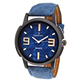 Golden Bell Analogue Blue Dial Men'S Wat...