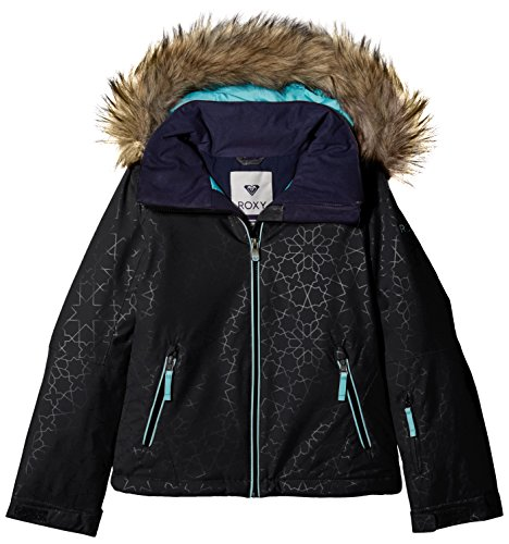 Roxy Mädchen Jk Jet Ski-Snow Jacket 8-16, Anthracite, 14/XL (Damen Roxy Jet)