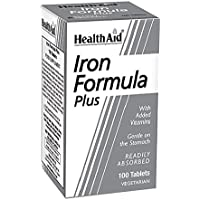 HealthAid Iron Formula Plus - 100 Vegetarian Tablets