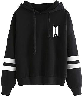 EmilyLe Women's BTS New Logo Hoodie Long Sleeve Jumper Jin Suga J-Hope RM Jimin V Jung Kook