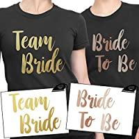 TEAM BRIDE Iron On T Shirt Transfer Bride To Be Tribe Squad Hen Do Party Rose Gold VINYL