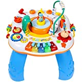 GoAppuGo Multifunctional Activity Table with Train, Music and Piano for Kids (Multicolour)