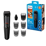 Philips Series 3000 7-in-1 Grooming kit, Head To Toe Trimmer with Attachments For Hair, Face, Nose & Ears, Self-Sharpening Blades, Switch Up Your Look With Maximum Versatility - MG3720/33