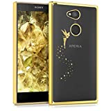 kwmobile Sony Xperia L2 Hülle - Handyhülle für Sony Xperia L2 - Handy Case in Gold Transparent