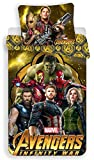 Jujak Marvel Avengers Rotary Single Bettwäsche Set Bettwäsche–100% Baumwolle–Kissen Fall Größe 70x 90cm, Design 1, 140 x 200cm