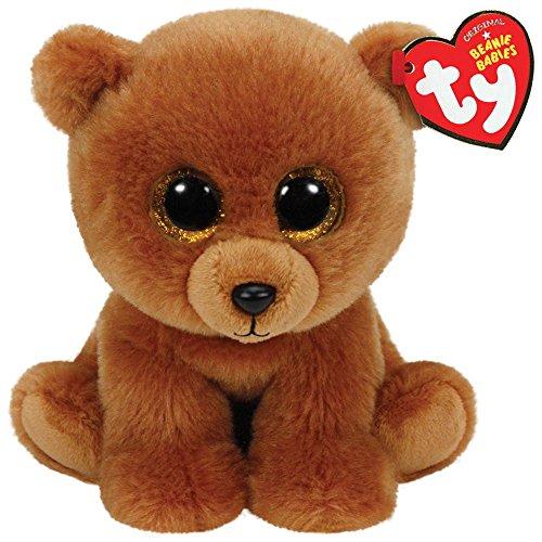 TY - Classics Brownie, oso pardo de peluche, 15 cm, color marrón (42109TY)