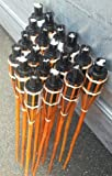iapyx - Antorchas de jardín (18 x 60 cm, bambú, para lámparas de aceite)