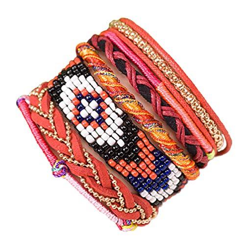 """ANDANTE - moda hippie, pulsera de estilo etno """"MADAGASCAR"""", tamaño universal de acero noble con cierre magnético (modelo 4021)"""