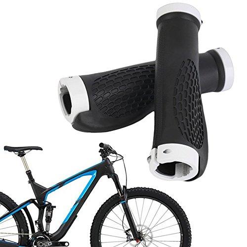 Ergonomische Gummi Mountain Bike Fahrrad Lenkergriffe Lock-on Enden