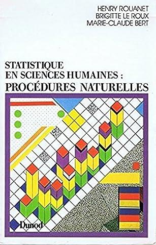 Statistique en sciences humaines : Procédures naturelles