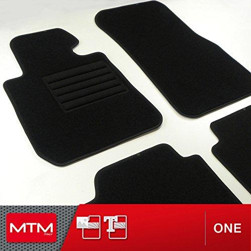 MDM Fussmatten Serie 3 Touring (F31) ab 2012- Passform wie Original aus Velours, Automatten mit Absatzschoner aus Textile, Rand rutschhemmender, cod. One 347 Serie Textil