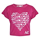 A2Z 4 Kids® Girls Top Kids Love Print Stylish Fahsion Trendy T Shirt Crop Top New Age 5 6 7 8 9 10 11 12 13 Years