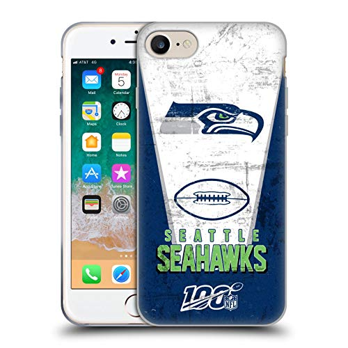 Head Case Designs Offizielle NFL Banner 100ste 2019/20 Seattle Seahawks Soft Gel Huelle kompatibel mit iPhone 7 / iPhone 8