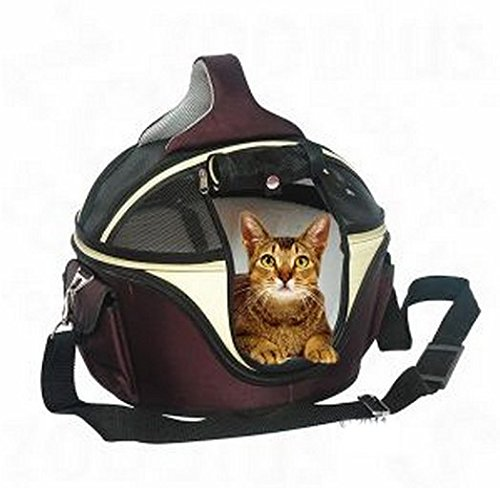 Elegant Innovative Round Hard Case Carrier Bag - Has A Variety Of Different Functions - Ideal For Large Cats & Small… 3