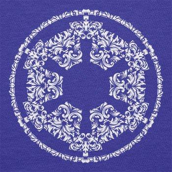 Texlab–Floral Imperial Logo–sacchetto di stoffa Marine
