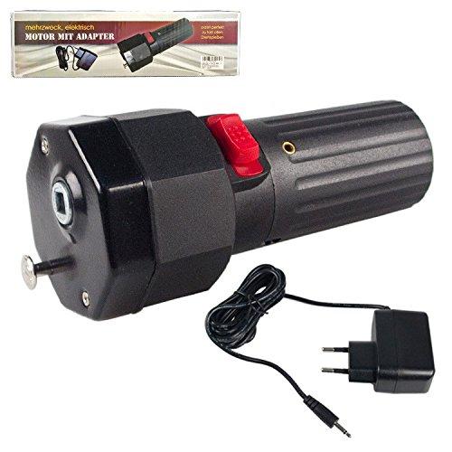 Compar Motor mit Adapter, Mehrzweck, elektrisch, Passt perfekt zu mehrfachem Grillspießdreher Sesam Schaschlik, Grillspieß, Drehspieß