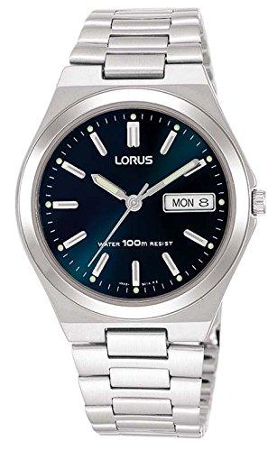 Lorus Mens Dark Blue Dial Day Date RXN17BX9
