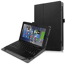 """Fintie Lenovo MIIX 310 10.1-Inch Funda Case - Ultra Slim Folio PU Cuero Carcasa Caso con Stand Función Para Lenovo MIIX 310 10.1"""" Windows Laptop / Tablet (Teclado no incluido), Negro"""