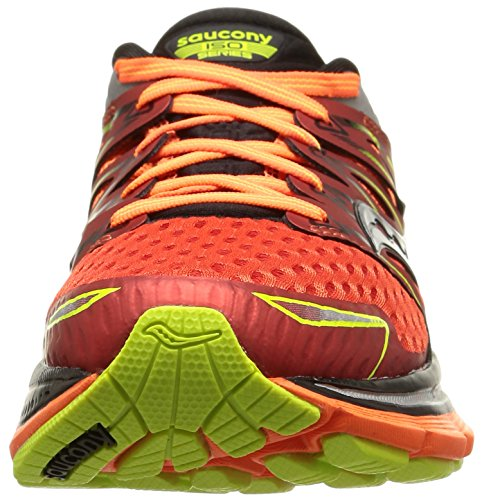 Saucony Triumph Iso Slime Black Orange multicolore (Red/Orange/Citron)
