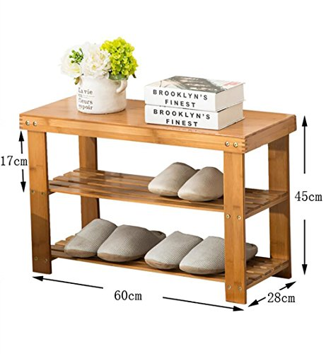 Étagères en bambou étagères en bambou étagères à bas prix en bois massif en bois massif étagères économiques étagères économiques salon de la maison armoire à chaussures ( Couleur : A , taille : 60 cm )