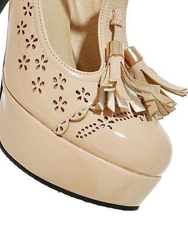 WSS 2016 Chaussures Femme-Habillé / Décontracté / Soirée & Evénement-Beige / Amande-Gros Talon-Talons / A Plateau / Salomé-Chaussures à Talons- beige-us8 / eu39 / uk6 / cn39
